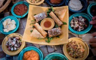 comida alquiler de barco con patron en marruecos