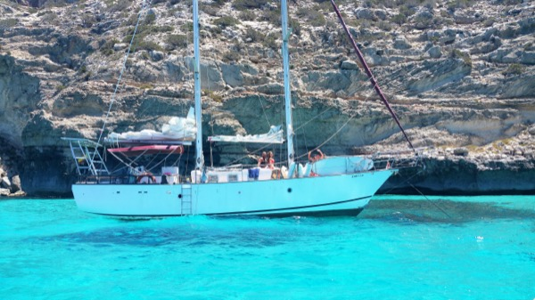 alquiler de barco con patrón en formentera